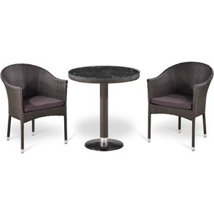 Комплект мебели из  искусственного ротанга Afina garden T504/Y350W-W2390 brown (2+1)
