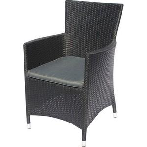 Кресло из искуственного ротанга Afina garden Y189D black стол afina garden асоль cdt01 d60