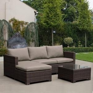 Угловой диван из 2 элементов со столиком Afina garden AFM-4025B brown