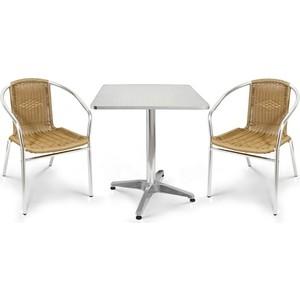 цена на Комплект мебели Afina garden LFT-3099A/T3125-60x60 cappuccino (2+1)