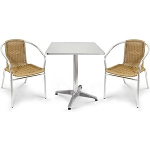 Комплект мебели Afina garden LFT-3099A/T3125-60x60 cappuccino (2+1) 6set sbr20linear rail 4set ballscrew rm1605 1 5kw spindle motor nema23 stepper motor 425oz aluminum profile 60x60