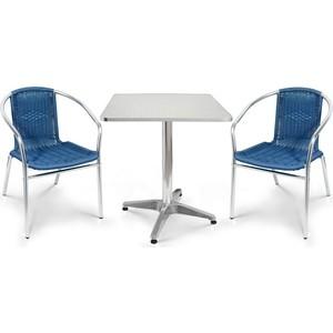 цена на Комплект мебели Afina garden LFT-3199E/T3125-60x60 blue (2+1)