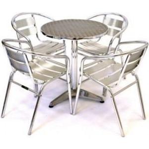 Комплект мебели Afina garden LFT-3059/T3127-D60 silver (4+1)