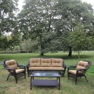 Комплект плетеный для отдыха с подушками Afina garden LV216 brown/beige
