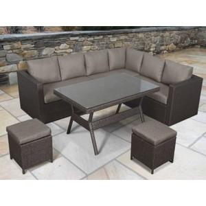 Угловой модульный комплект мебели с диваном Afina garden X04 brown рюкзак afina afina af004bwahrc0