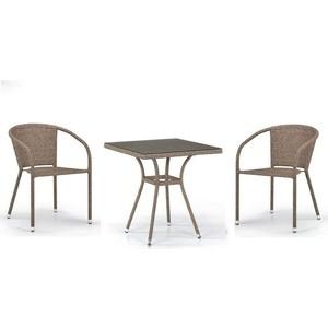 Комплект мебели из  искуственного ротанга Afina garden T282BNT/Y137C-W56 light brown (2+1)