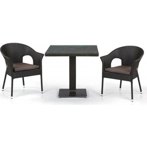 Комплект мебели из  искусственного ротанга Afina garden T605SWT/Y97B-W53 brown (2+1)