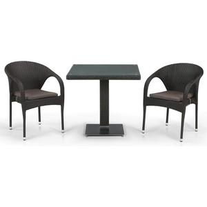 Комплект мебели из  искусственного ротанга Afina garden T605SWT/Y290W-W53 brown (2+1)