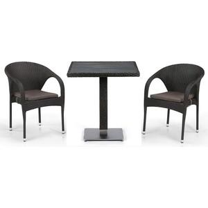 Комплект мебели из  искусственного ротанга Afina garden T607D/Y290-W53/52 brown (2+1)