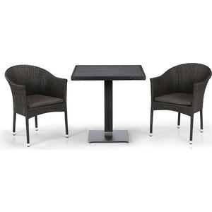 Комплект мебели из  искусственного ротанга Afina garden T607D/Y350B-W53/51 brown (2+1)