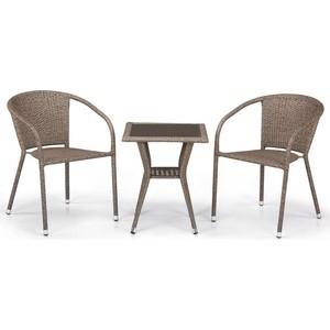 Комплект мебели из  искусственного ротанга Afina garden T25B/Y137C-W56 light brown (2+1)