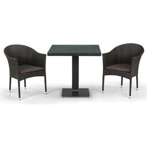 Комплект мебели из  искуственного ротанга Afina garden T605SWT/Y350B-W53/51 brown (2+1) комплект мебели из искуственного ротанга afina garden t282bnt y137c w56 light brown 2 1