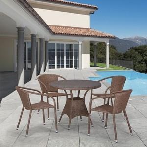 Комплект мебели из  искусственного ротанга Afina garden T197AT/Y137C-W56 light brown (4+1)