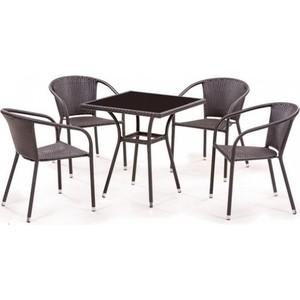 Комплект мебели из  искусственного ротанга Afina garden T282BNS/Y137C-W53 brown (4+1)