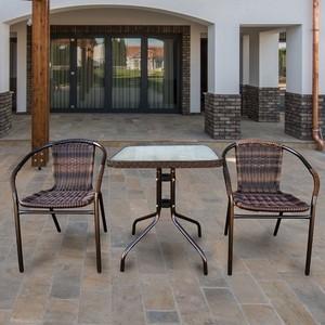 Комплект мебели Afina garden Асоль 2B TLH-037B/060SR-60x60 Brown 2Pcs