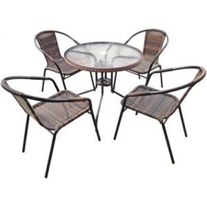 Комплект мебели Afina garden Николь 1B TLH-037B/080RR-D80 Brown 4Pcs
