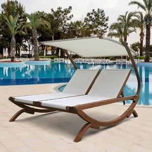 Шезлонг-лежак Afina garden Мальта AFM-510 white рюкзак afina afina af004bwahrc0