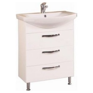 Тумба с раковиной Акватон Ария 65 н (1A123401AA010 + 1WH207782) комплект мебели акватон ария 65 н белая