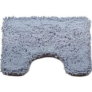 Коврик для туалета Brissen 50х50 см Chenille серый, полиэстер (BSMT-8000-Grey) коврик для йоги 173х61х0 7 см серый hkem1205 07 grey