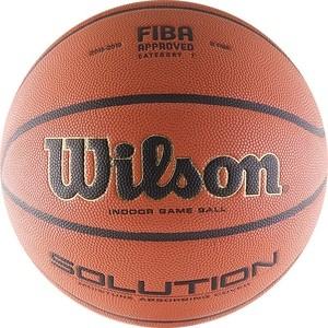 Мяч баскетбольный Wilson Solution (B0616X) р.7 FIBA Approved мяч баскетбольный molten bgf6x rfb р 6 fiba appr
