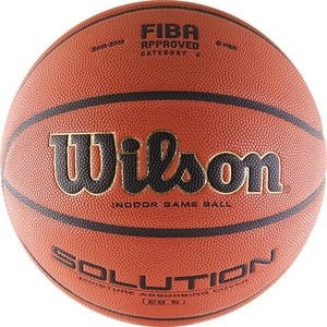 Мяч баскетбольный Wilson Solution (B0686X) р.6 FIBA Approved баскетбольный мяч р 6 and1 competition micro fibre composite page 2