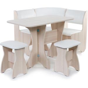 Набор мебели для кухни Бител Тюльпан мини - однотонный (ясень, Борнео милк, ясень) от ТЕХПОРТ