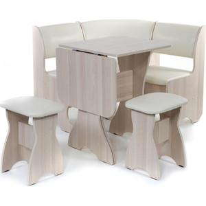 Набор мебели для кухни Бител Тюльпан мини - однотонный (ясень, Борнео крем, ясень)