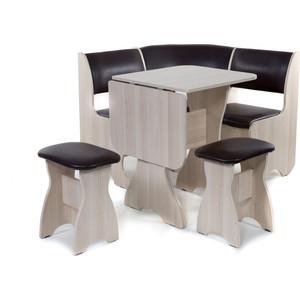 Набор мебели для кухни Бител Тюльпан мини - однотонный (ясень, Борнео умбер, ясень)