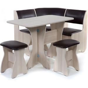 Набор мебели для кухни Бител Тюльпан мини - однотонный (ясень, Борнео умбер, ясень) от ТЕХПОРТ