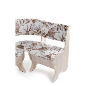 Набор мебели для кухни Бител Тюльпан мини - однотонный (ясень, замша 642 Париж, ясень) от ТЕХПОРТ