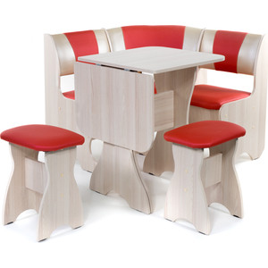 Набор мебели для кухни Бител Тюльан мини - комби (ясень терра эффект-112 + С-101 ясень)