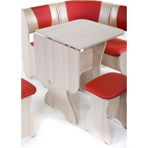 Набор мебели для кухни Бител Тюльпан мини - комби (ясень терра эффект-112 + С-101 ясень) от ТЕХПОРТ