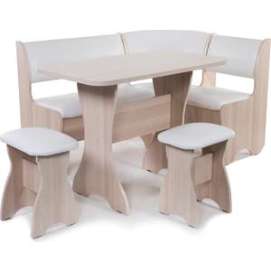 Набор мебели для кухни Бител Тюльпан - однотонный (ясень, Борнео милк, ясень)