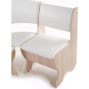 Набор мебели для кухни Бител Тюльпан - однотонный (ясень, Борнео милк, ясень) от ТЕХПОРТ