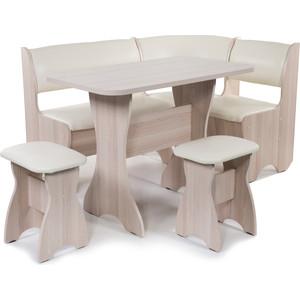 Набор мебели для кухни Бител Тюльпан - однотонный (ясень, Борнео крем, ясень)