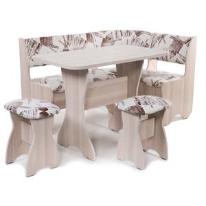 Набор мебели для кухни Бител Тюльпан - однотонный (ясень, замша 642 Париж, ясень) от ТЕХПОРТ