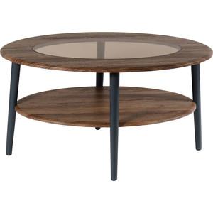 Стол журнальный Калифорния мебель Эль со стеклом СЖС-01 грецкий орех брелок счастливый орех грецкий орех оберег с любовью bwp l