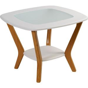 Стол журнальный Калифорния мебель Мельбурн белый мебель