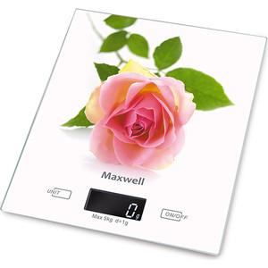 Кухонные весы Maxwell MW-1476(W) весы кухонные maxwell mw 1473 b голубой рисунок