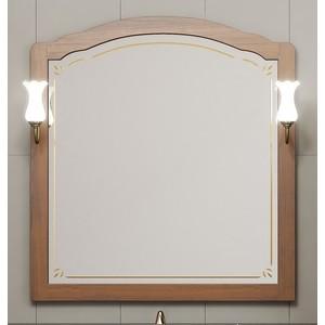 Зеркало Opadiris Лоренцо 100 светлый орех, для светильников 00000001041, Z0000001408 (Z0000007094) зеркало в деревянной раме opadiris риспекто 105 антикварный орех для светильников 00000001041 z0000001408 z0000000694