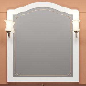 Зеркало Opadiris Лоренцо 100 белый, для светильников 00000001041, Z0000001408 (Z0000008465) зеркало opadiris тибет 50 белый матовый для светильников z0000006243 z0000012652