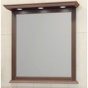 Зеркало в деревянной раме Opadiris Корлеоне 100 светлый орех с темной патиной, с подсветкой (Z0000008185) зеркало opadiris тора 28 с подсветкой и выключателем z0000003002