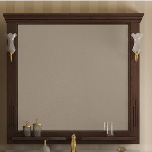 Зеркало в деревянной раме Opadiris Риспекто 105 антикварный орех, для светильников 00000001041, Z0000001408 (Z0000000694) зеркало в деревянной раме opadiris риспекто 105 слоновая кость для светильников 00000001041 z0000001408 z0000006704