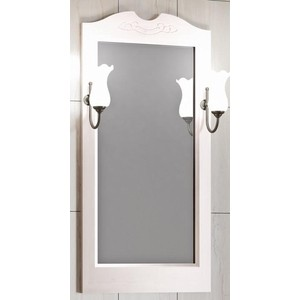 Зеркало в деревянной раме Opadiris Клио 50 белый, для светильников 00000001041, Z0000001408 (Z0000003246) зеркало в деревянной раме opadiris риспекто 105 слоновая кость для светильников 00000001041 z0000001408 z0000006704