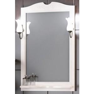 Зеркало в деревянной раме Opadiris Клио 65 белый, для светильников 00000001041, Z0000001408 (Z0000004117) зеркало в деревянной раме opadiris тибет 50 белый для светильников 00000001041 z0000004146