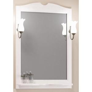 Зеркало в деревянной раме Opadiris Клио 70 белый, для светильников 00000001041, Z0000001408 (Z0000002645) зеркало в деревянной раме opadiris тибет 50 белый для светильников 00000001041 z0000004146