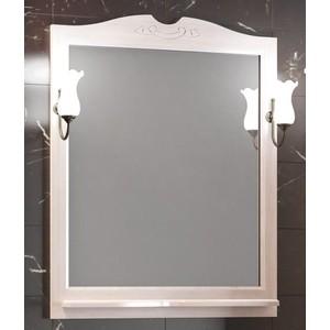 Зеркало в деревянной раме Opadiris Тибет 80 белый, для светильников 00000001041 (Z0000004092) вадим шегалов мои дороги тибет