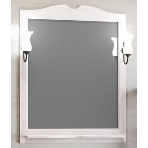 Зеркало в деревянной раме Opadiris Клио 80 белый, для светильников 00000001041, Z0000001408 (Z0000000859) зеркало в деревянной раме opadiris тибет 50 белый для светильников 00000001041 z0000004146