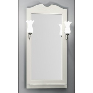 Зеркало в деревянной раме Opadiris Тибет 50 слоновая кость, для светильников 00000001041 (Z0000007087) alternativa корзина для белья плетёнка 60л alternativa слоновая кость