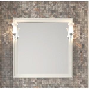 Зеркало в деревянной раме Opadiris Санрайз 90 слоновая кость, для светильников Z0000006243 (Z0000006353) зеркало шкаф comforty палермо 90 слоновая кость